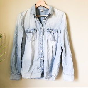 J.Crew chambray button up top 279